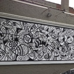 Daniel Cascardo Mural on Woodward