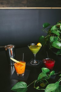 GreenSpace Café features craft cocktails such as Greenhouse, Manhattan Beet and 14 Carrot Gold.