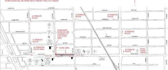 Temporary Traffic Control On E. Nine Mile Starting September 9